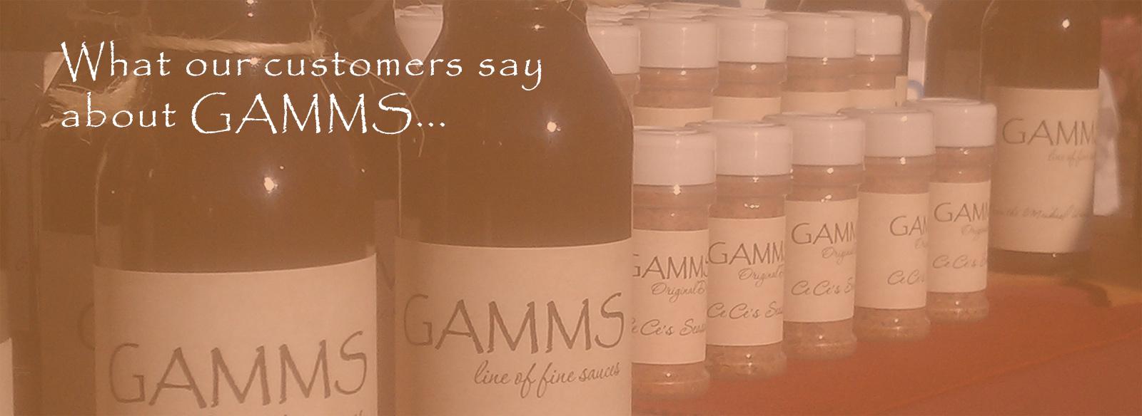 GAMMS Sauces Testimonials